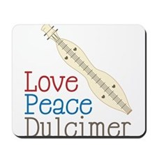Love Peace Dulcimer Mousepad