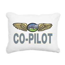 RV Co-Pilot Rectangular Canvas Pillow
