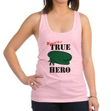 Married to a Green Beret Hero Racerback Tank Top