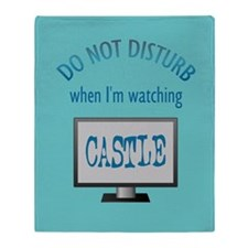 Do Not Disturb Watching Castle Throw Blanket