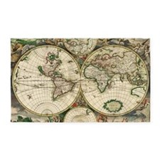 Antique Map 3'x5' Area Rug