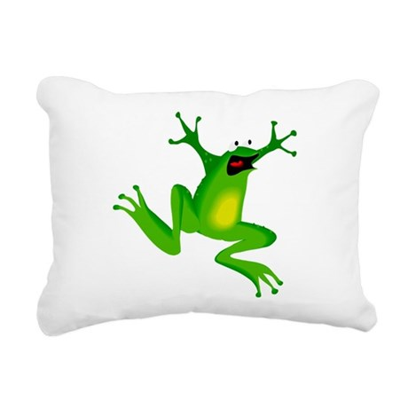 frog.png Rectangular Canvas Pillow