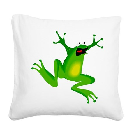 frog.png Square Canvas Pillow