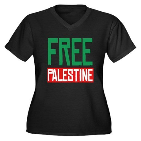 Free Palestine ????? ?????? Womens Plus Size V-Ne