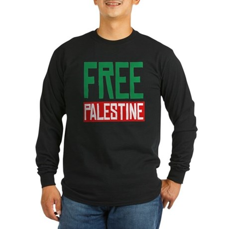 Free Palestine ????? ?????? Long Sleeve Dark T-Shi