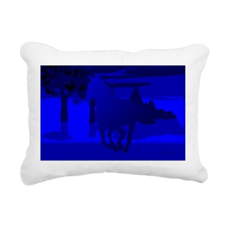 horse4.jpg Rectangular Canvas Pillow