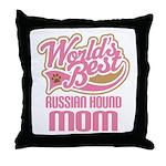 Russian Hound Mom Throw Pillow