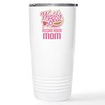 Russian Hound Mom Ceramic Travel Mug
