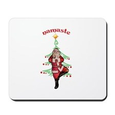 Santa Tree Pose Mousepad
