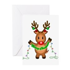 Merry Deer Greeting Cards (Pk of 20)