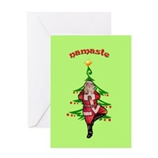 Santa Tree Pose Greeting Card