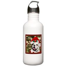 Christmas bulldog Water Bottle