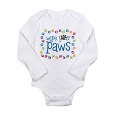 Wipe Your Paws Long Sleeve Infant Bodysuit
