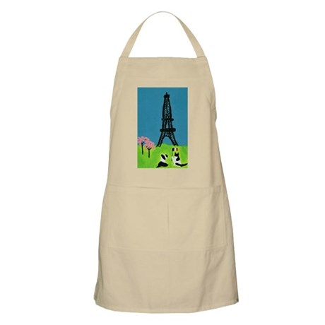 Dog Cat and the Eiffel Tower Apron