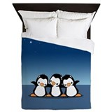 Penguins (together) Queen Duvet
