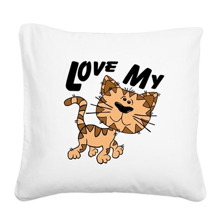 lovecat.png Square Canvas Pillow