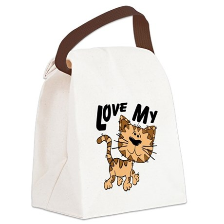 lovecat.png Canvas Lunch Bag