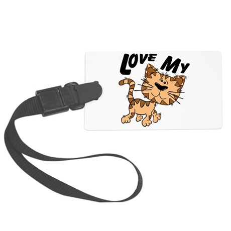 lovecat.png Large Luggage Tag