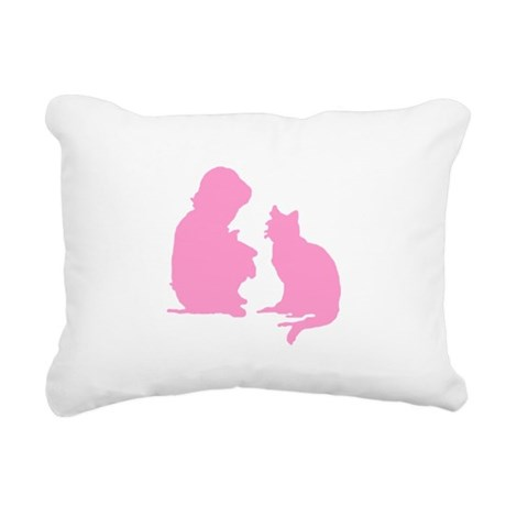 catnchild2b.png Rectangular Canvas Pillow