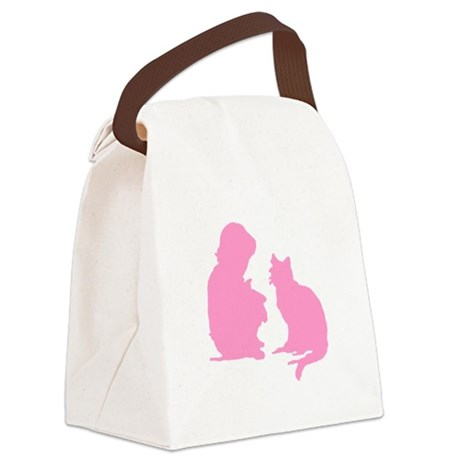 catnchild2b.png Canvas Lunch Bag