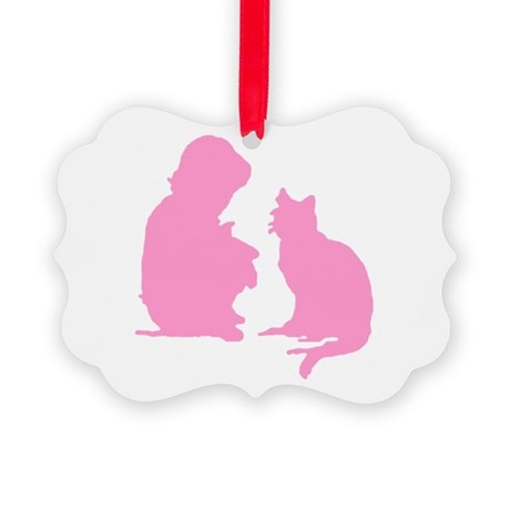 catnchild2b.png Picture Ornament