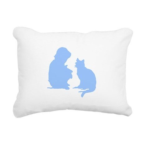 catnchild2a.png Rectangular Canvas Pillow