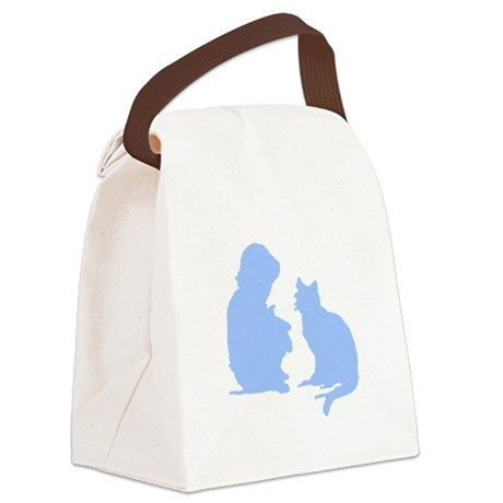 catnchild2a.png Canvas Lunch Bag