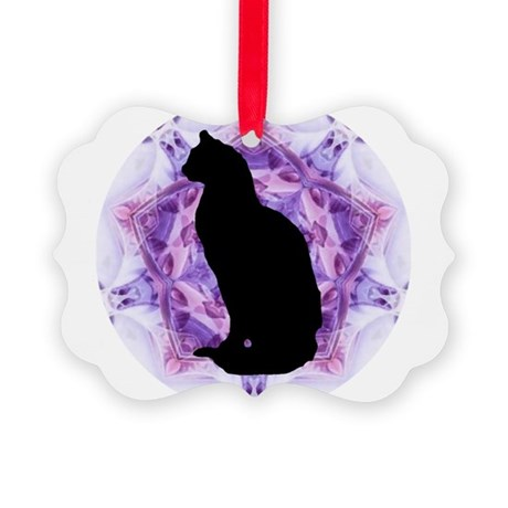 Kaleidoscope Cat Picture Ornament