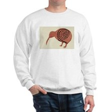 Kiwi Bird Fern Design Sweatshirt