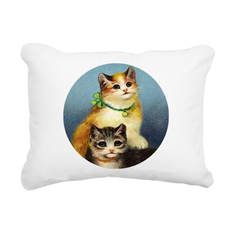 Cute Kittens Rectangular Canvas Pillow