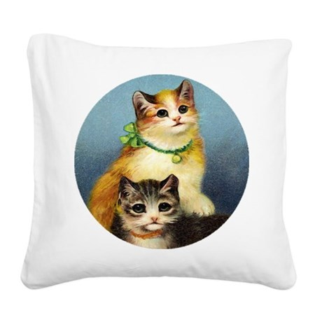 Cute Kittens Square Canvas Pillow
