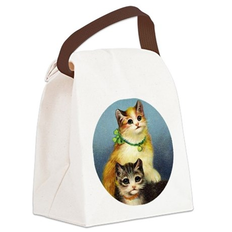 Cute Kittens Canvas Lunch Bag