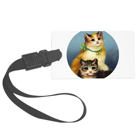 Cute Kittens Large Luggage Tag