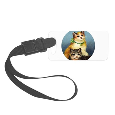Cute Kittens Small Luggage Tag