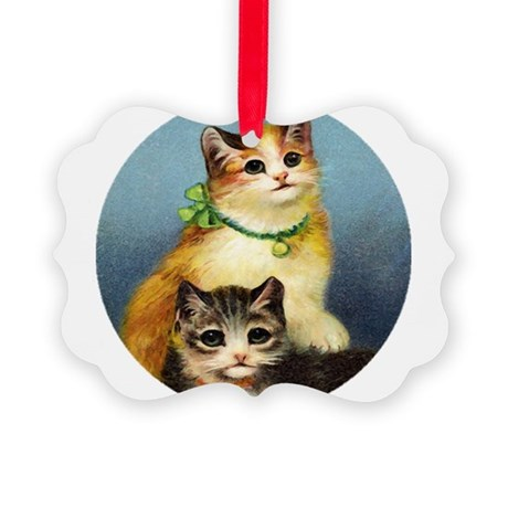 Cute Kittens Picture Ornament