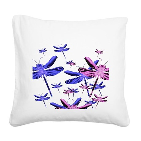 dragonfly4d.png Square Canvas Pillow