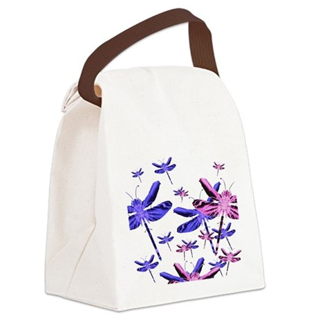 dragonfly4d.png Canvas Lunch Bag