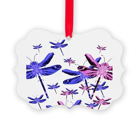 dragonfly4d.png Picture Ornament