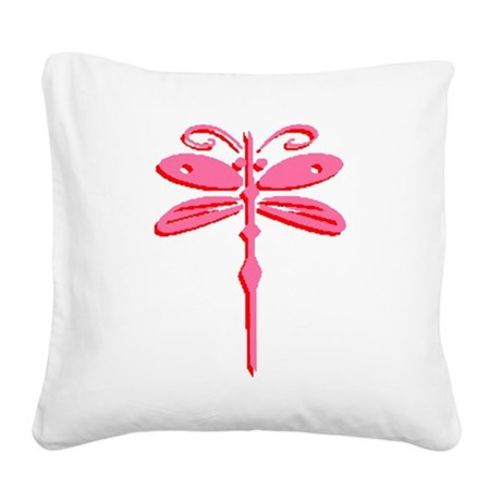 dragonfly5b.png Square Canvas Pillow