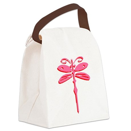 dragonfly5b.png Canvas Lunch Bag