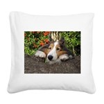 Squishy Face Square Canvas Pillow