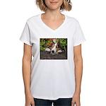 Squishy Face Women's V-Neck T-Shirt