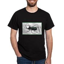 Scarab Atlas Beetle (Front) Black T-Shirt