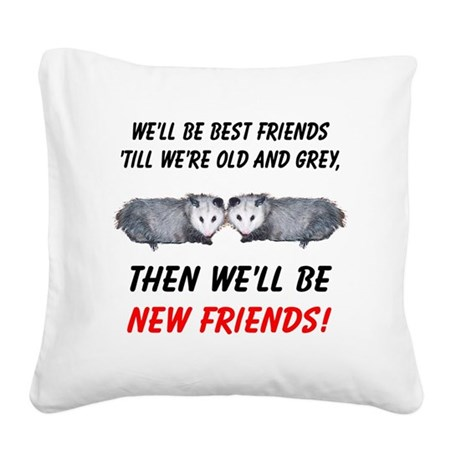 bestfriends5.png Square Canvas Pillow