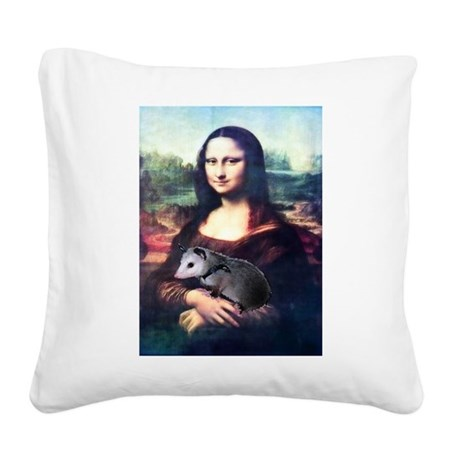 monalisa2acd.png Square Canvas Pillow