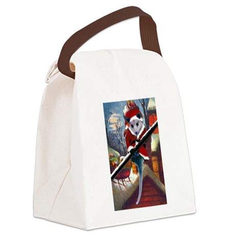 santa7atall.jpg Canvas Lunch Bag