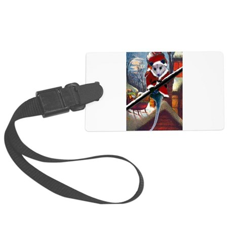 santa7atall.jpg Large Luggage Tag