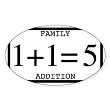 Family Addition Rectangular Bumper Sticker 5 Stick