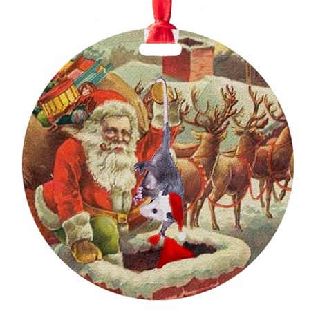 santahelper2a.png Round Ornament