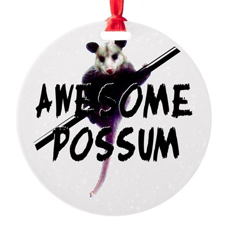 Awesome Possum Round Ornament